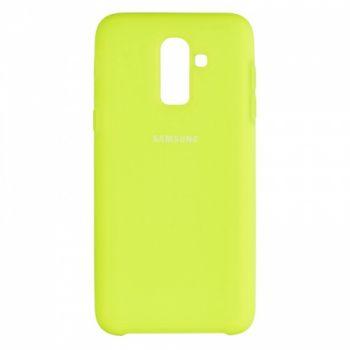 Оригинальный чехол накладка Soft Case для Samsung J810 (J8-2018) Lime