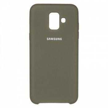 Оригинальный чехол накладка Soft Case для Samsung A600 (A6-2018) черный