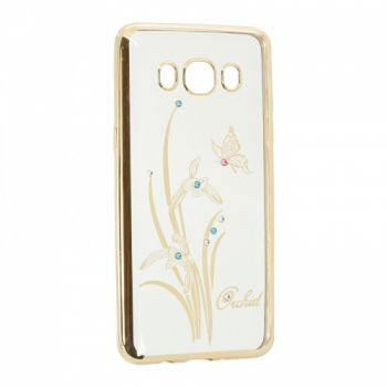 Прозрачный чехол с рисунком и камешками для Huawei Y3 Orchid
