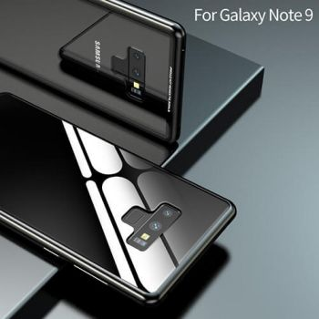 Черный металлический чехол бампер на магните Strong для Samsung Galaxy Note 9