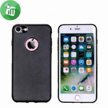 Черный чехол накладка Carbon для iPhone 8