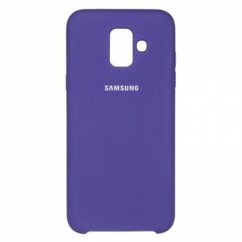 Оригинальный чехол накладка Soft Case для Samsung A600 (A6-2018) фиолетовый