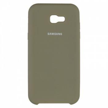 Оригинальный чехол накладка Soft Case для Samsung A720 (A7-2017) зеленый