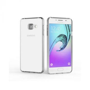 Прозрачный силиконовый чехол бампер Bright для Samsung Galaxy A3 2016