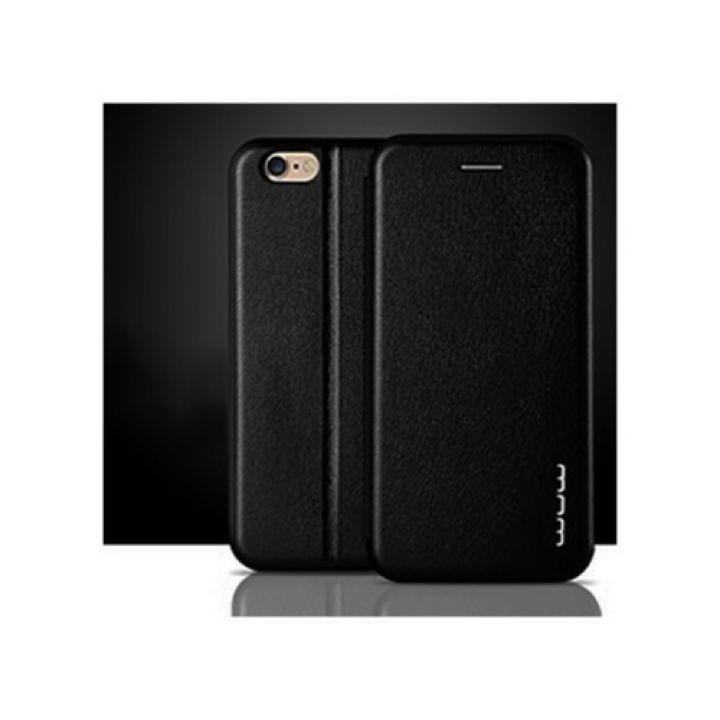 Черный кожаный чехол книжка Luxor для iPhone 6/6s