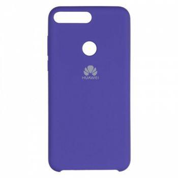 Оригинальный чехол накладка Soft Case для Huawei Y7 Prime (2018) фиолетовый