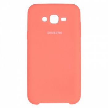 Оригинальный чехол накладка Soft Case для Samsung J700 (J7) розовый