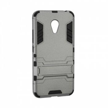 Пластиковый ударопрочный чехол накладка для Meizu M5 серый