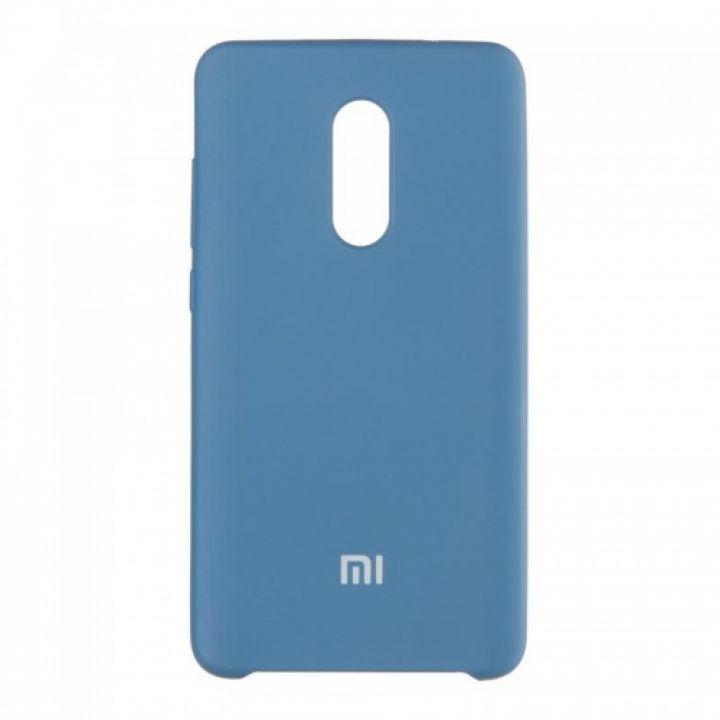Оригинальный чехол накладка Soft Case для Xiaomi Redmi 4x темно-синий