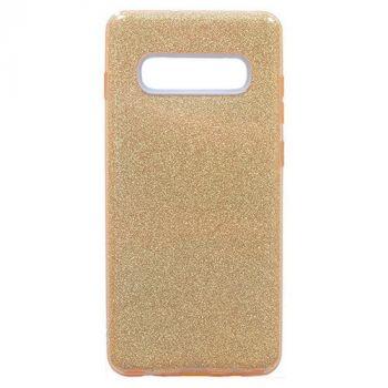Золотой чехол бампер Amazing для Samsung Galaxy S10 Plus