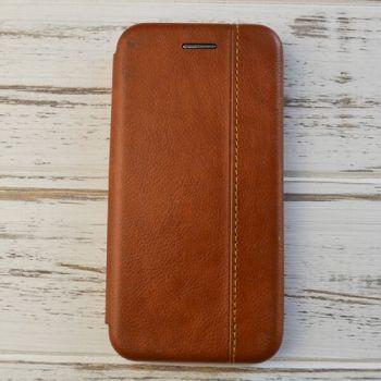 Коричневый кожаный чехол флип Lux Brown для Samsung Note 9