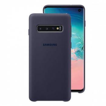 Чехол накладка Soft Matte для Samsung S10 Plus темносиний