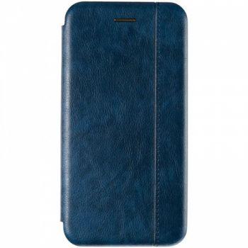 Кожаная книжка Cover Leather от Gelius для Huawei Y6 (2019) синяя