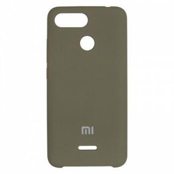 Оригинальный чехол накладка Soft Case для Xiaomi Redmi Note 5/5 Pro Olive Green