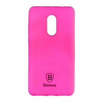 Яркий силиконовый чехол Colorit от Baseus для Xiaomi Redmi Note 4 розовый
