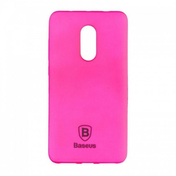 Яркий силиконовый чехол Colorit от Baseus для Xiaomi Redmi Note 4x розовый