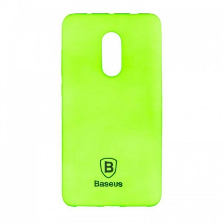 Яркий силиконовый чехол Colorit от Baseus для Xiaomi Redmi Note 4x зеленый