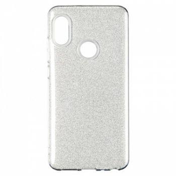 Чехол с блесками Glitter Silicon от Remax для Huawei Y6 (2018) серебро