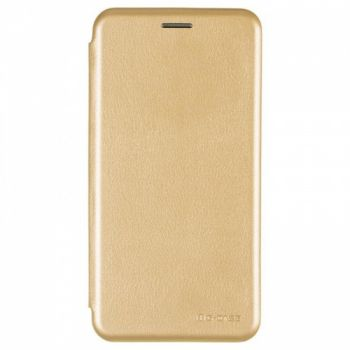 Чехол книжка из кожи Ranger от G-Case для Huawei Y7 золото