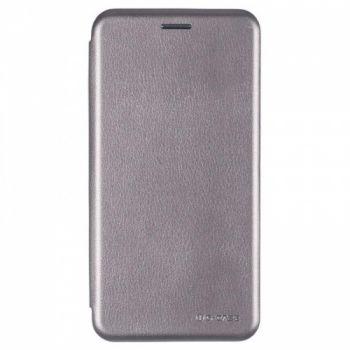 Чехол книжка из кожи Ranger от G-Case для Huawei Y7 серый
