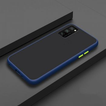 Противоударный матовый чехол Yoho для Samsung Galaxy S20 blue