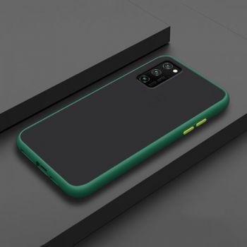 Ударопрочный матовый чехол Yoho зеленый для Samsung Galaxy S20 Ultra