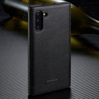 Черный кожаный чехол Allure для Samsung Galaxy Note 10 Plus