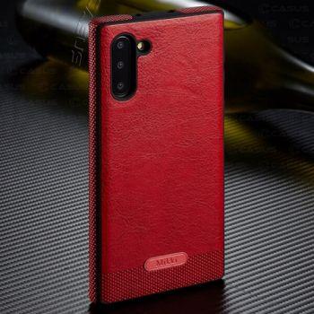 Красный кожаный чехол Allure для Samsung Galaxy Note 10 Plus