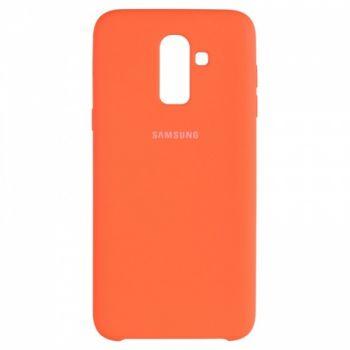 Оригинальный чехол накладка Soft Case для Samsung J810 (J8-2018) оранжевый