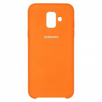 Оригинальный чехол накладка Soft Case для Samsung A600 (A6-2018) оранжевый