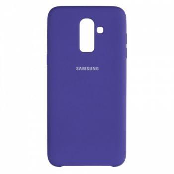 Оригинальный чехол накладка Soft Case для Samsung J810 (J8-2018) фиолетовый