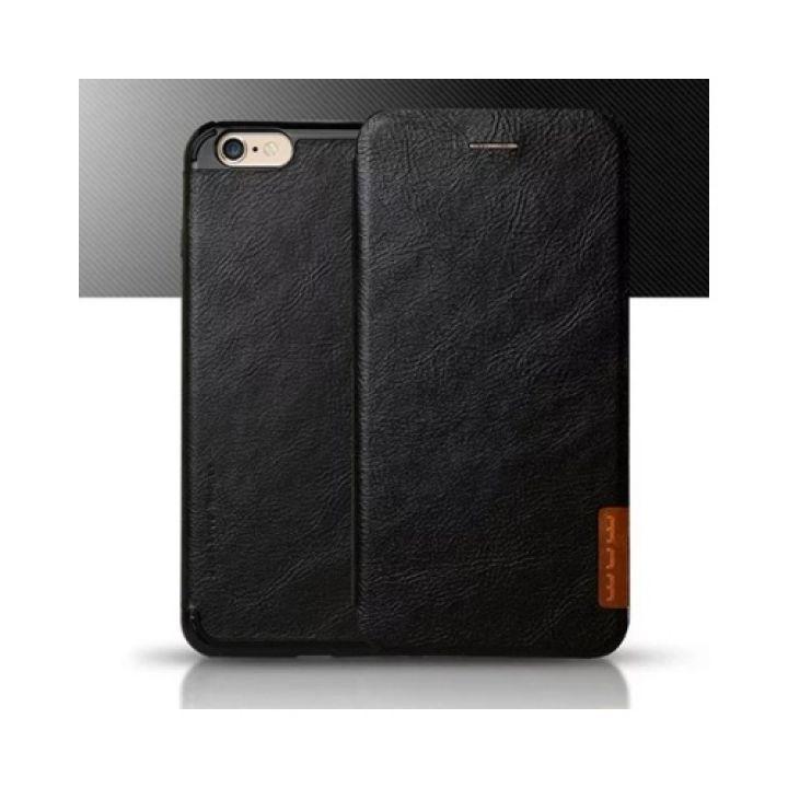 Черный чехол книжка из натуральной кожи Fusion для iPhone 6/6s