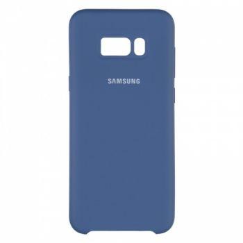 Оригинальный чехол накладка Soft Case для Samsung S8 Plus темно-синий
