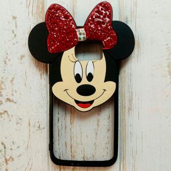 3D чехол игрушка Mickey для Samsung S7 Edge красный