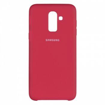 Оригинальный чехол накладка Soft Case для Samsung J810 (J8-2018) бордо