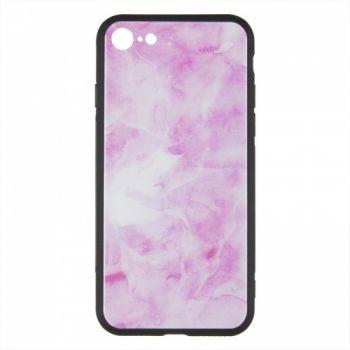 Силиконовая накладка с принтом от iPaky для Huawei Y7 Prime (2018) розовый Marmor (RCD159)