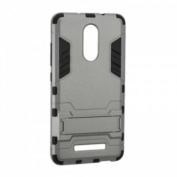 Пластиковый ударопрочный чехол накладка для Meizu M5s серый