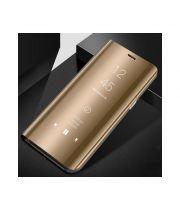 Золотой чехол книжка Smart Clear для Samsung Galaxy S8