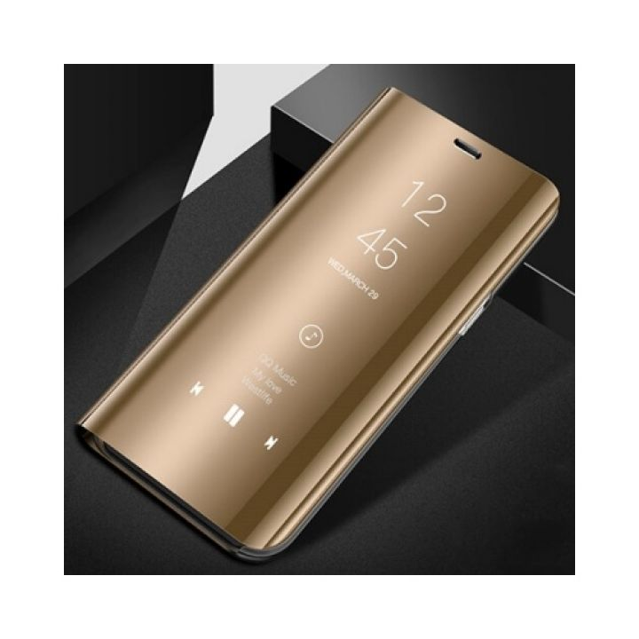Чехол книжка золотого цвета Simple Clear для Samsung Galaxy Note 8