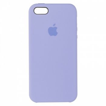 Оригинальный чехол накладка Soft Case для iPhone 5 цвета лаванды