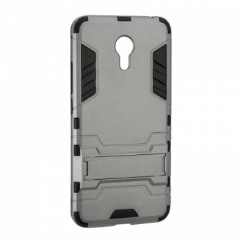 Пластиковый ударопрочный чехол накладка для Meizu M3 Note серый