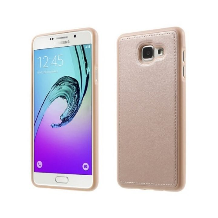 Яркий чехол Flexible для Samsung Galaxy A3 2016 gold