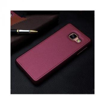Чехол бампер из кожи Flexible для Samsung Galaxy A7 2016 red