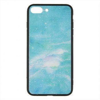 Силиконовая накладка с принтом от iPaky для iPhone 6 Plus Green Marmor