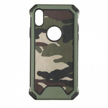 Пластиковый чехол в стиле военный камуфляж для iPhone Xs