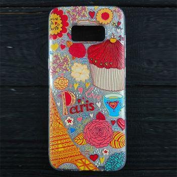 Красивый чехол бампер c рисунком Love для Samsung Galaxy J730