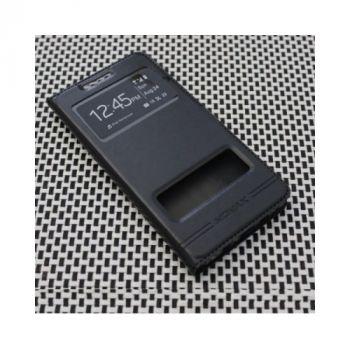 Черный чехол книжка из кожи Perfect для Samsung Galaxy Samsung Galaxy S5