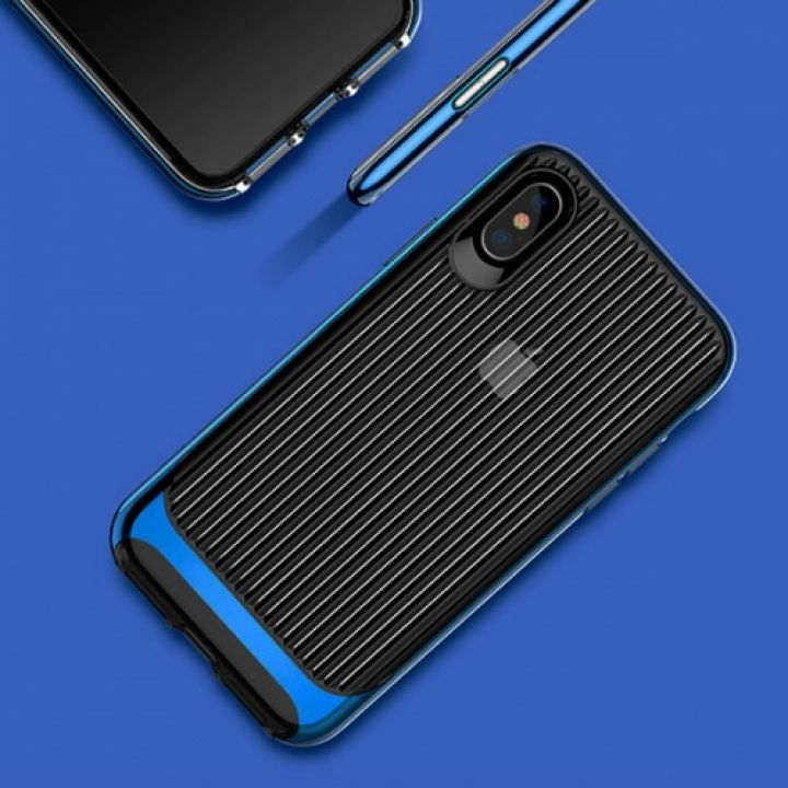 Противоударный чехол бампер Ultra Blue для iPhone X