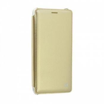 Чехол-книжка из натуральной кожи Pure для Samsung N930 (Note 7) золотой