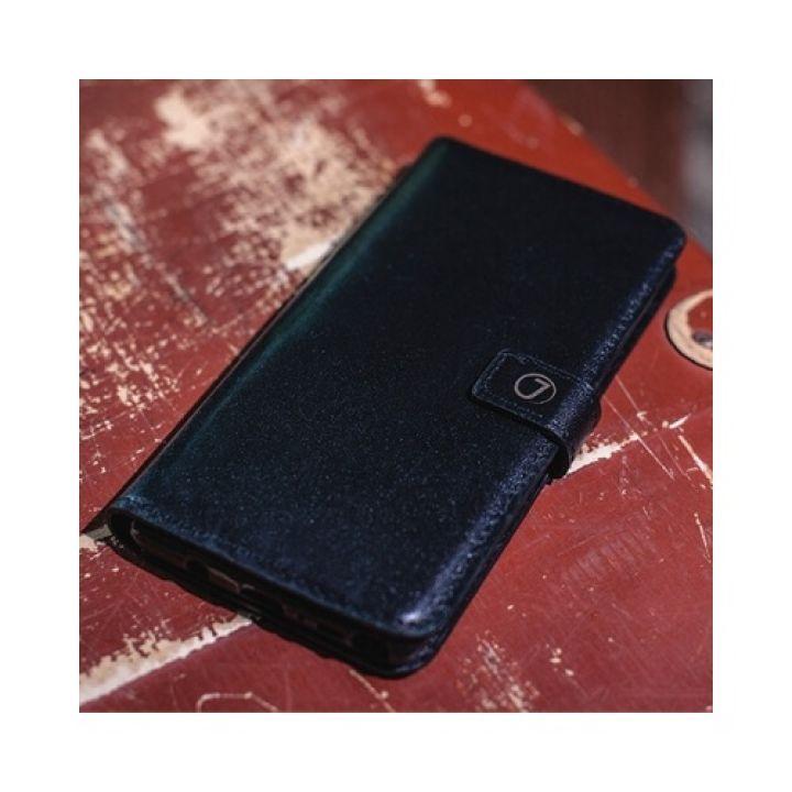 Кожаный чехол книжка Klassika от Jitnik для Samsung Galaxy Note 8, черный